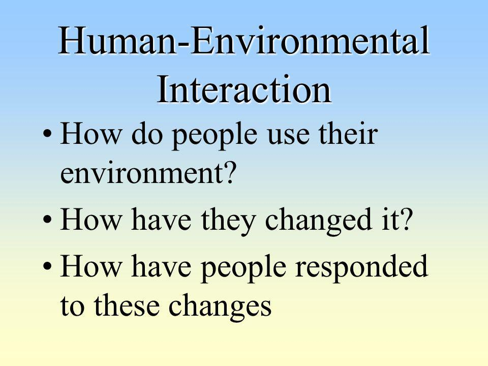 Human-Environmental Interaction