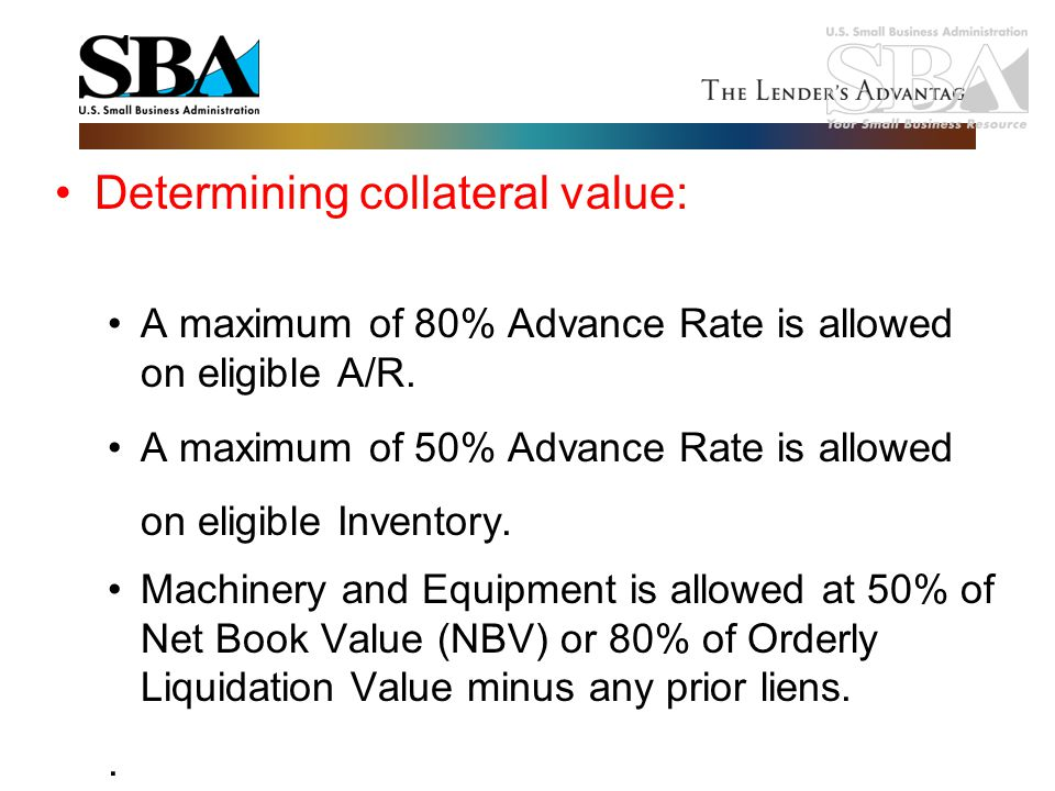 Determining collateral value: