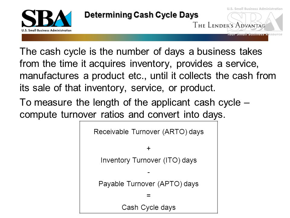 Determining Cash Cycle Days