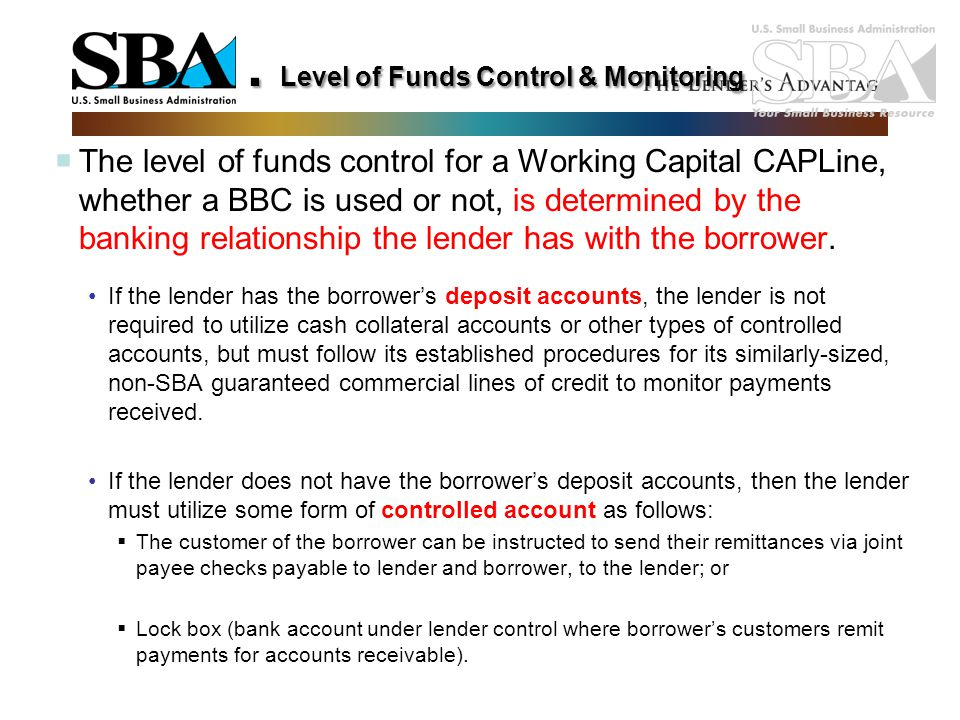 . Level of Funds Control & Monitoring
