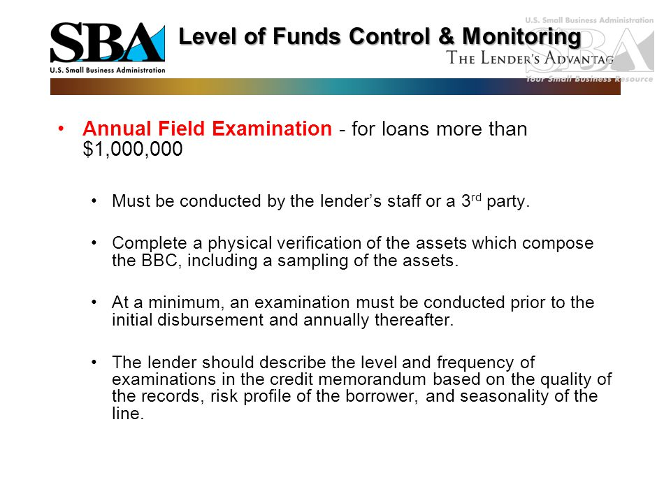 Level of Funds Control & Monitoring