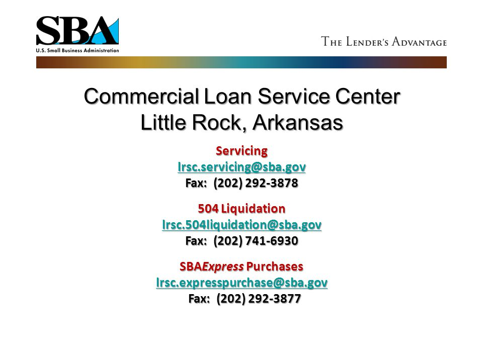 Commercial Loan Service Center Little Rock, Arkansas