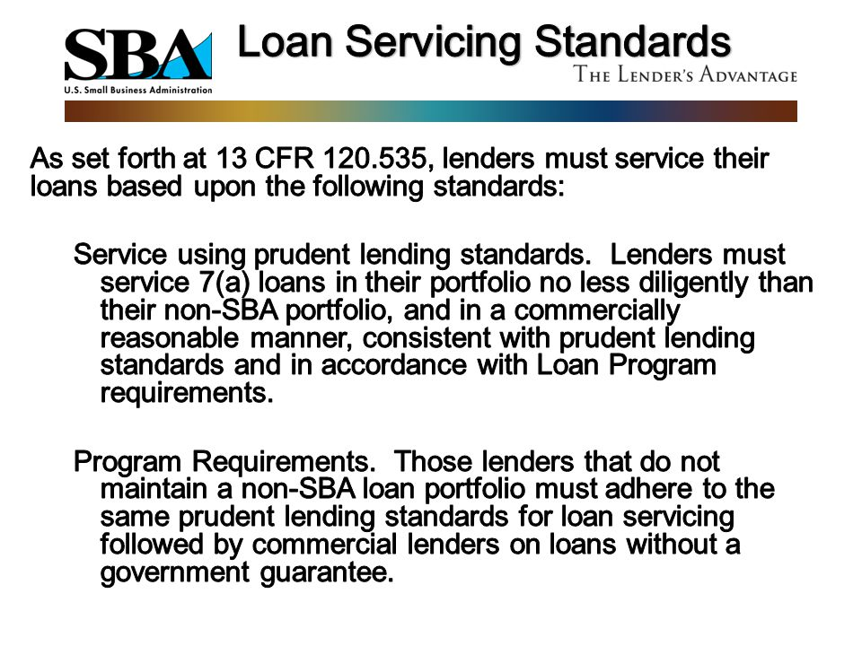 Loan Servicing Standards