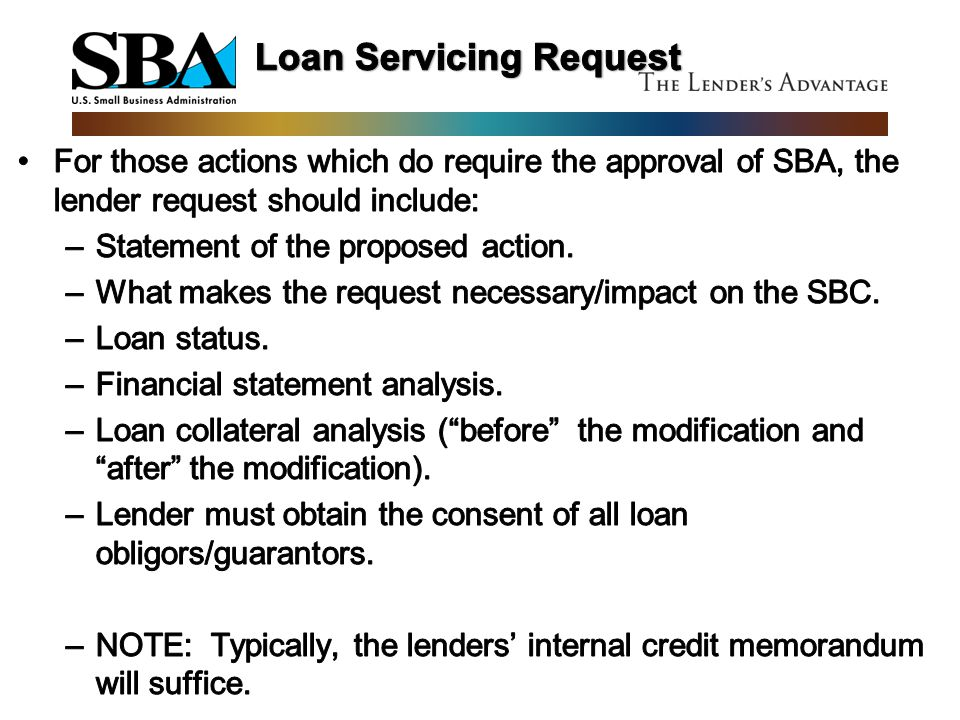 Loan Servicing Request