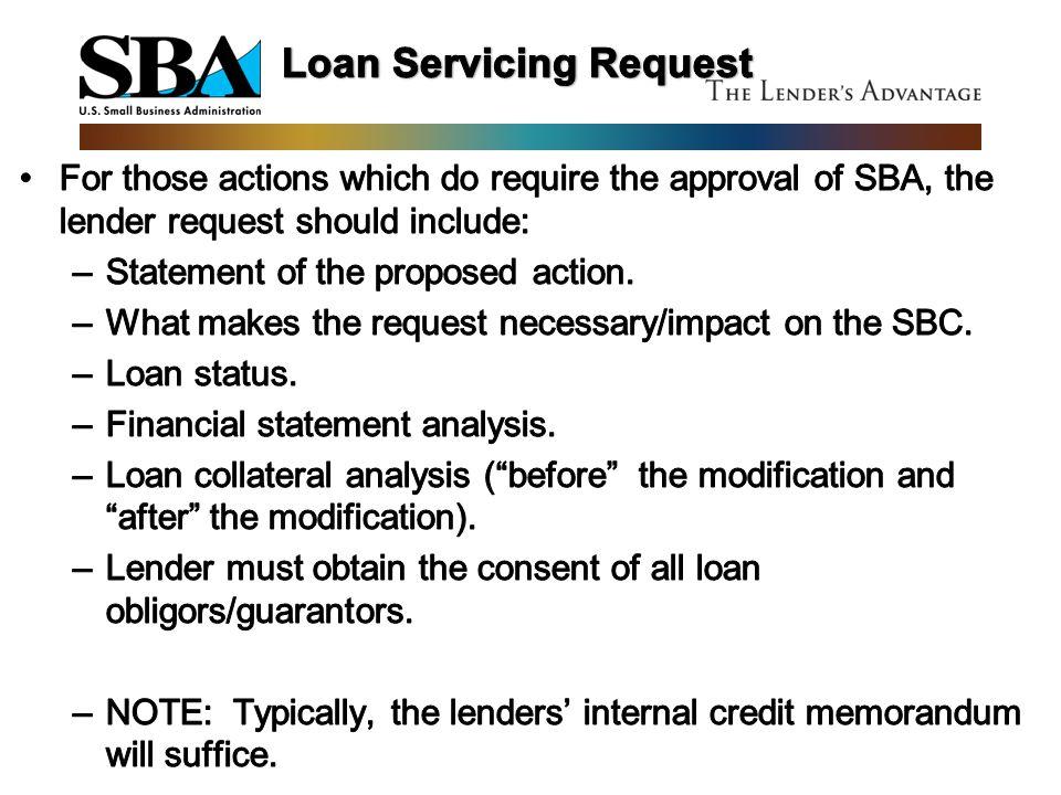 Loan Servicing Request