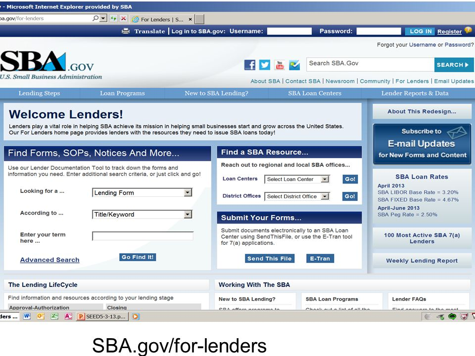 SBA.gov/for-lenders