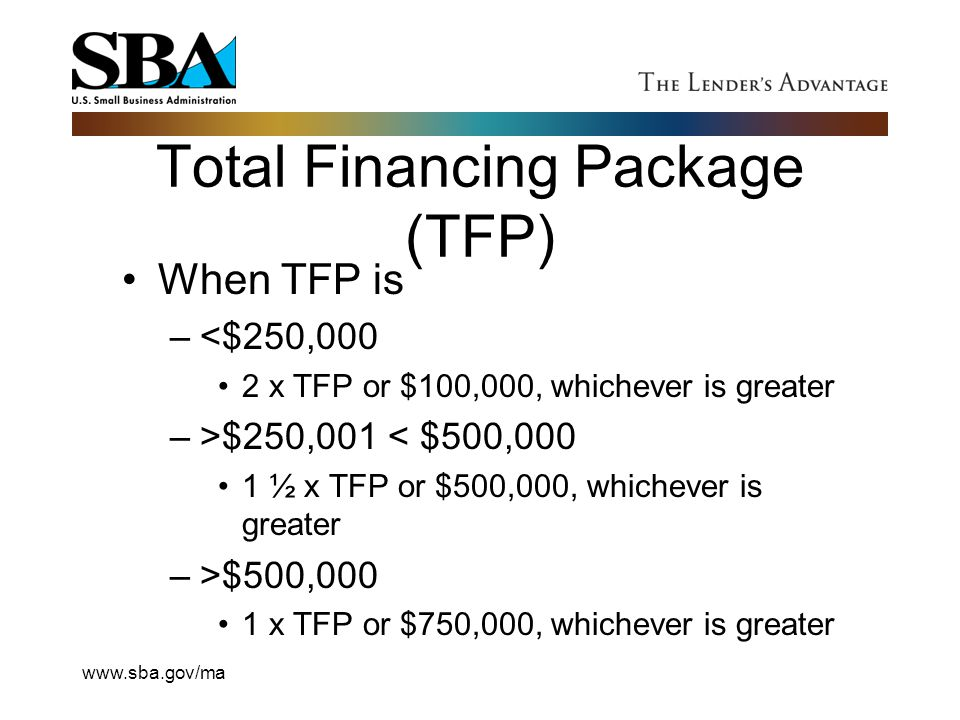 Total Financing Package (TFP)