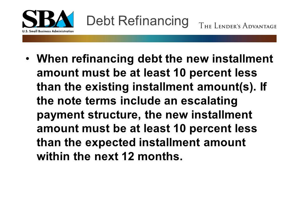 Debt Refinancing