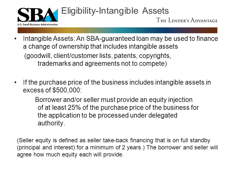 Eligibility-Intangible Assets