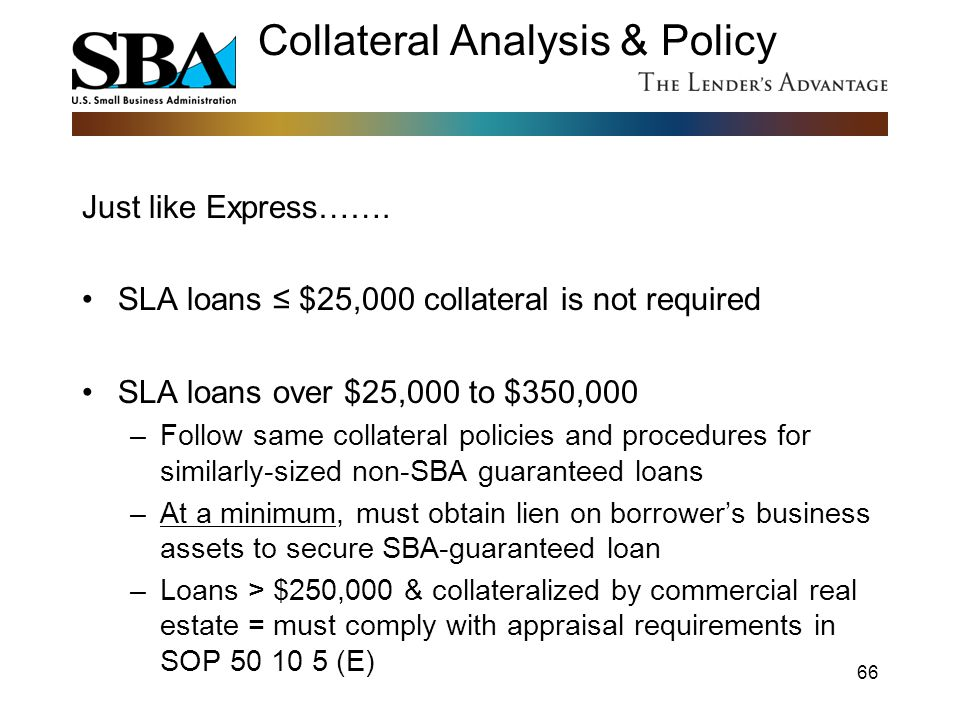 Collateral Analysis & Policy