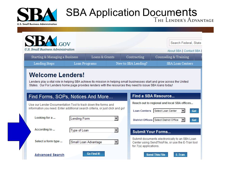 SBA Application Documents