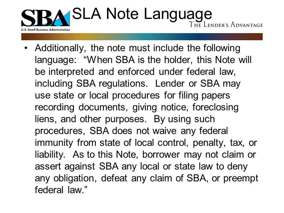SLA Note Language