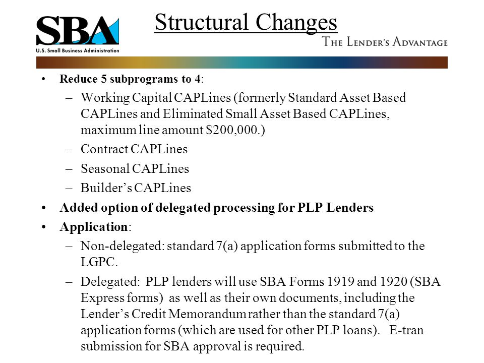 Structural Changes Reduce 5 subprograms to 4: