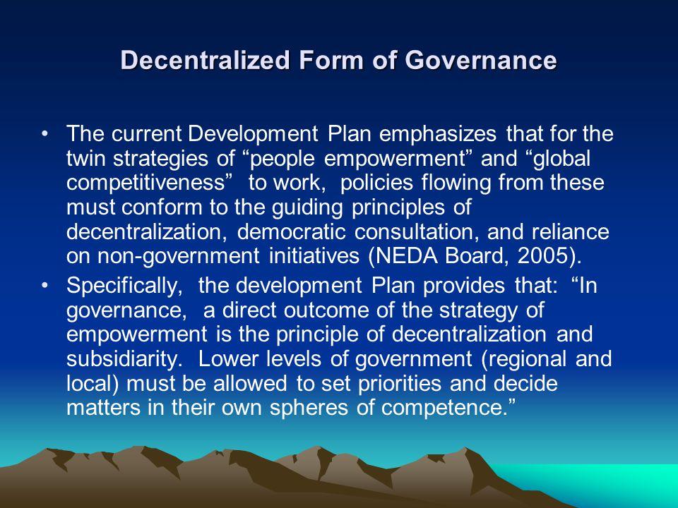 Decentralized Form of Governance