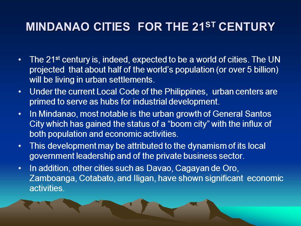 MINDANAO CITIES FOR THE 21ST CENTURY