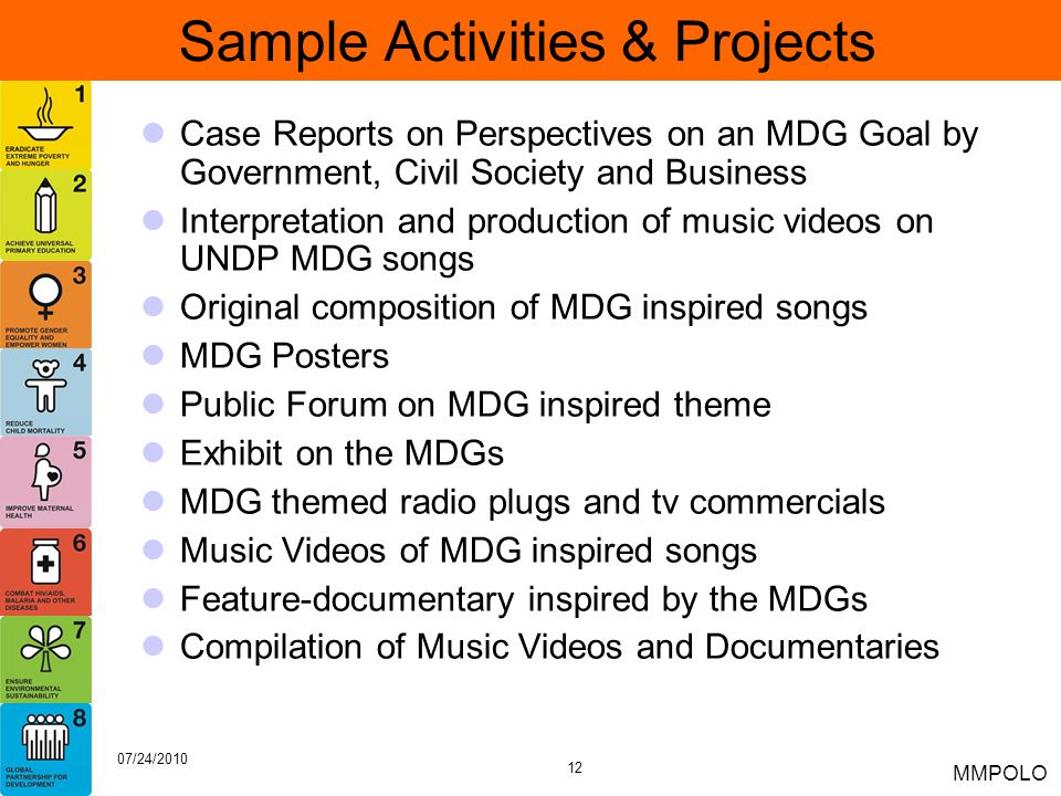 Sample Activities & Projects