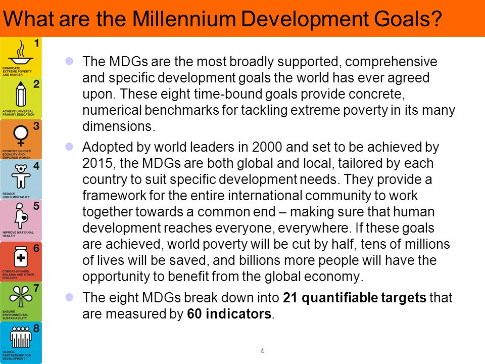 What are the Millennium Development Goals