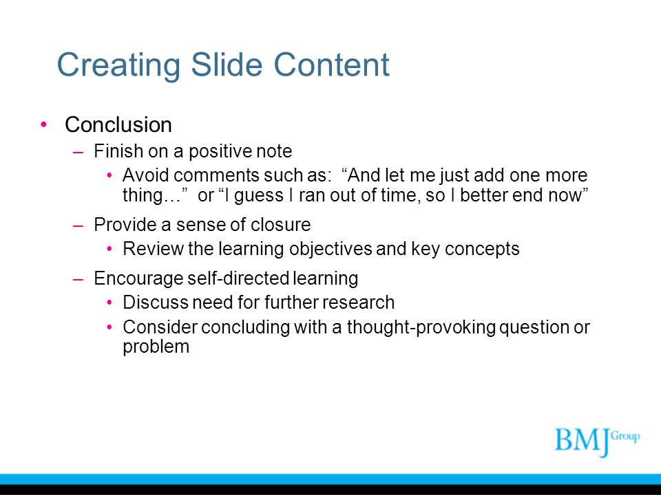 Creating Slide Content