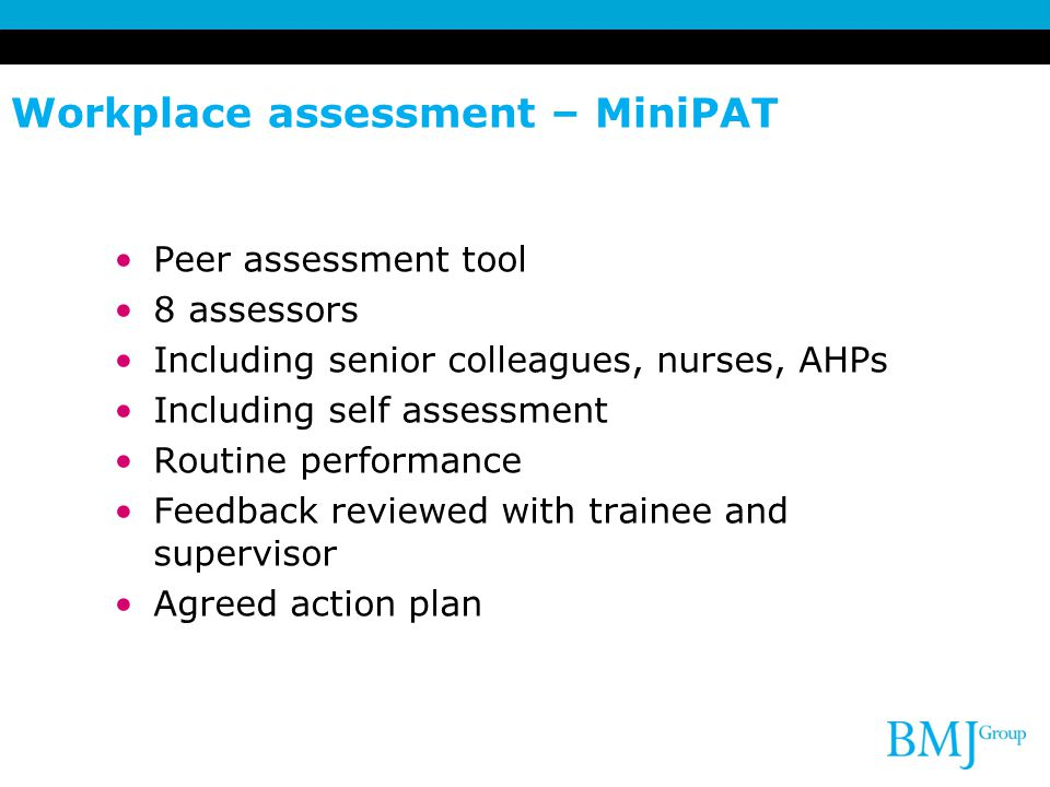 Workplace assessment – MiniPAT