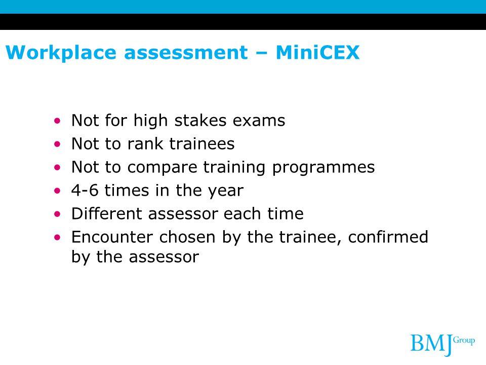Workplace assessment – MiniCEX