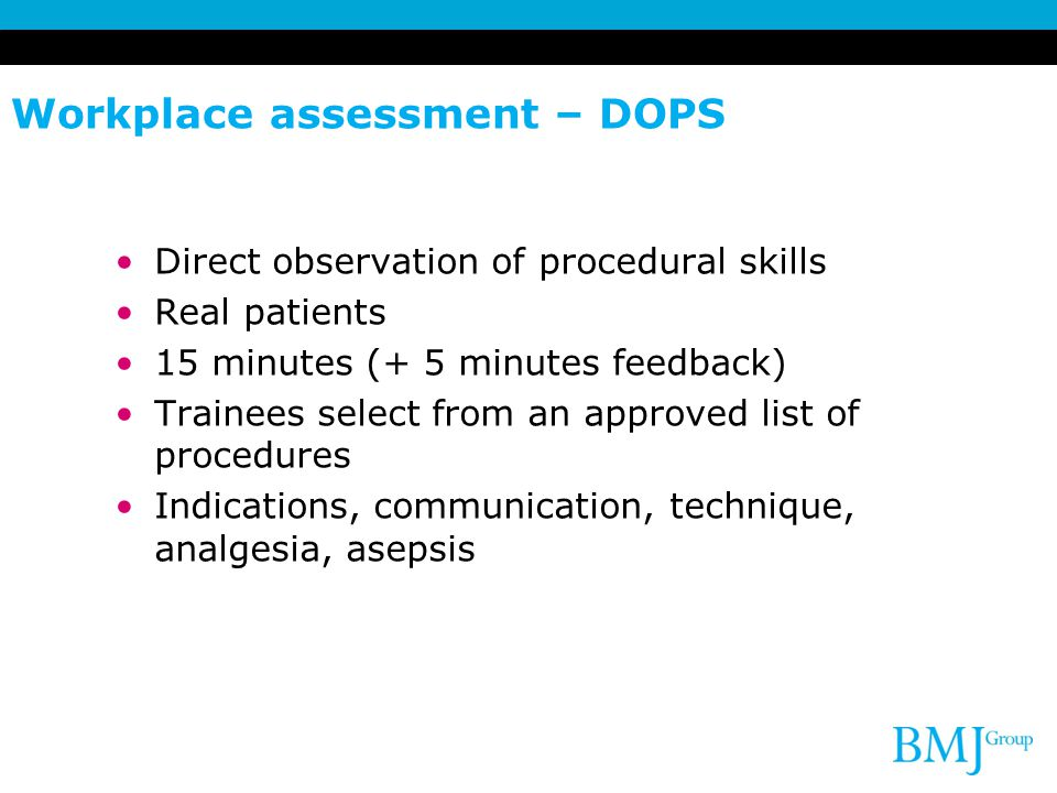 Workplace assessment – DOPS