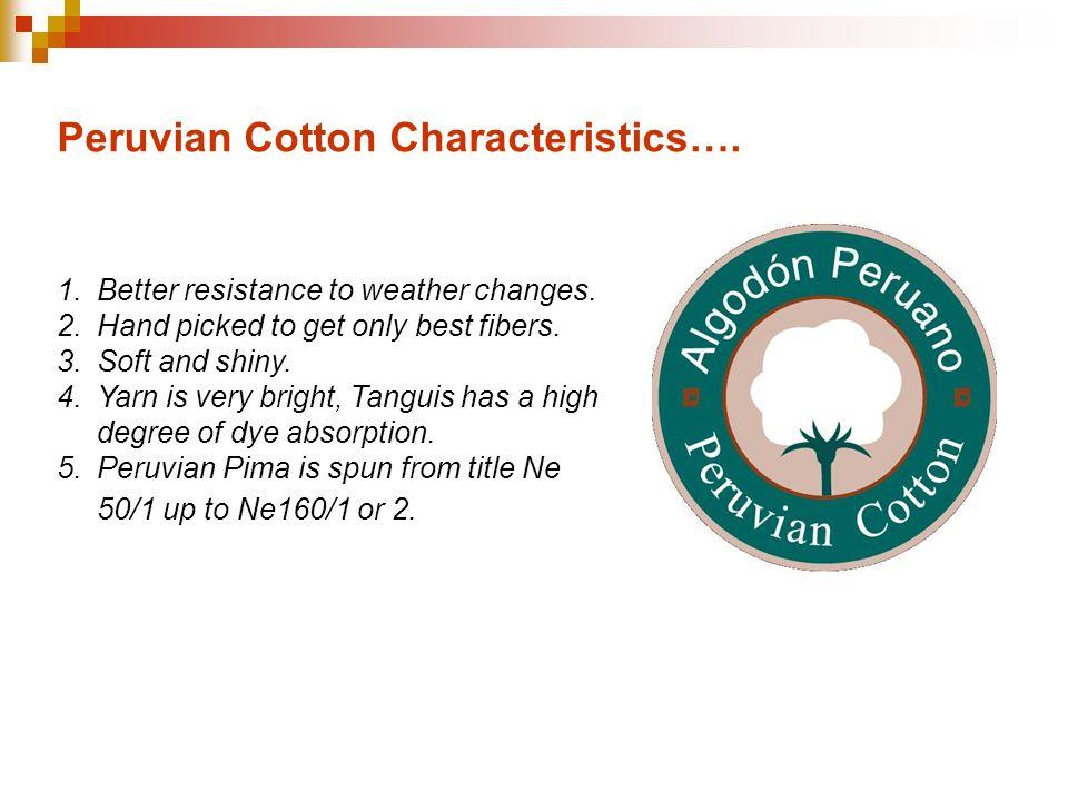 Peruvian Cotton Characteristics….