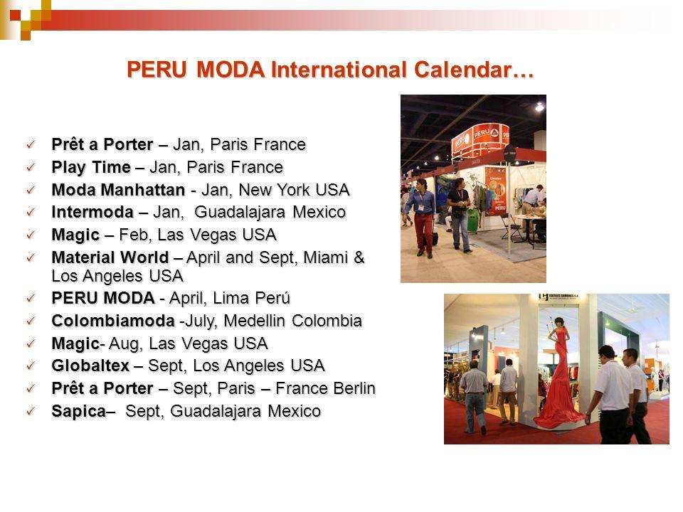PERU MODA International Calendar…