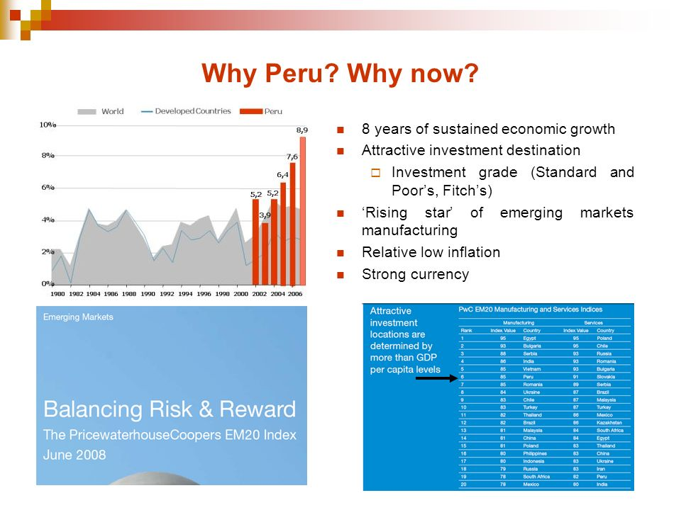 Why Peru Why now 8 years of sustained economic growth