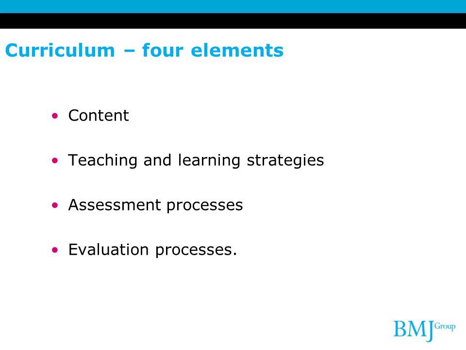 Curriculum – four elements