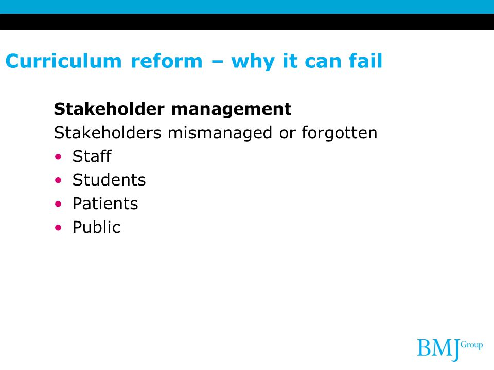Curriculum reform – why it can fail