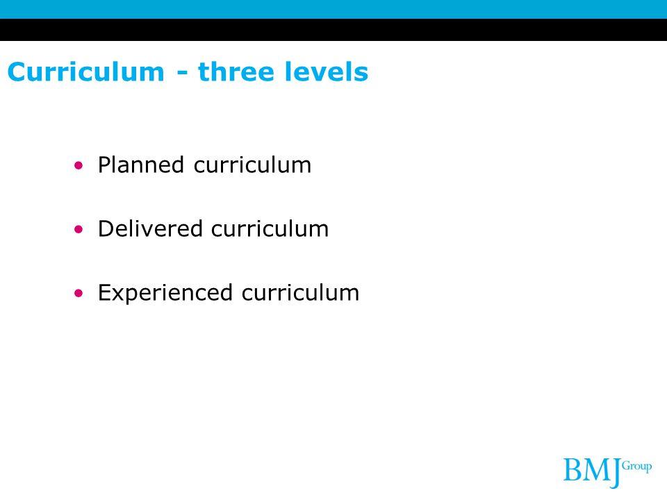 Curriculum - three levels