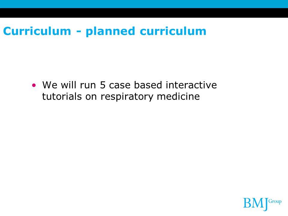 Curriculum - planned curriculum