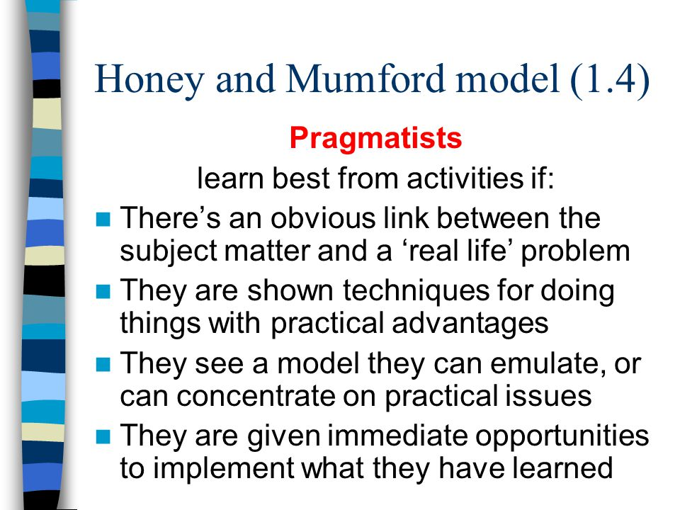Honey and Mumford model (1.4)