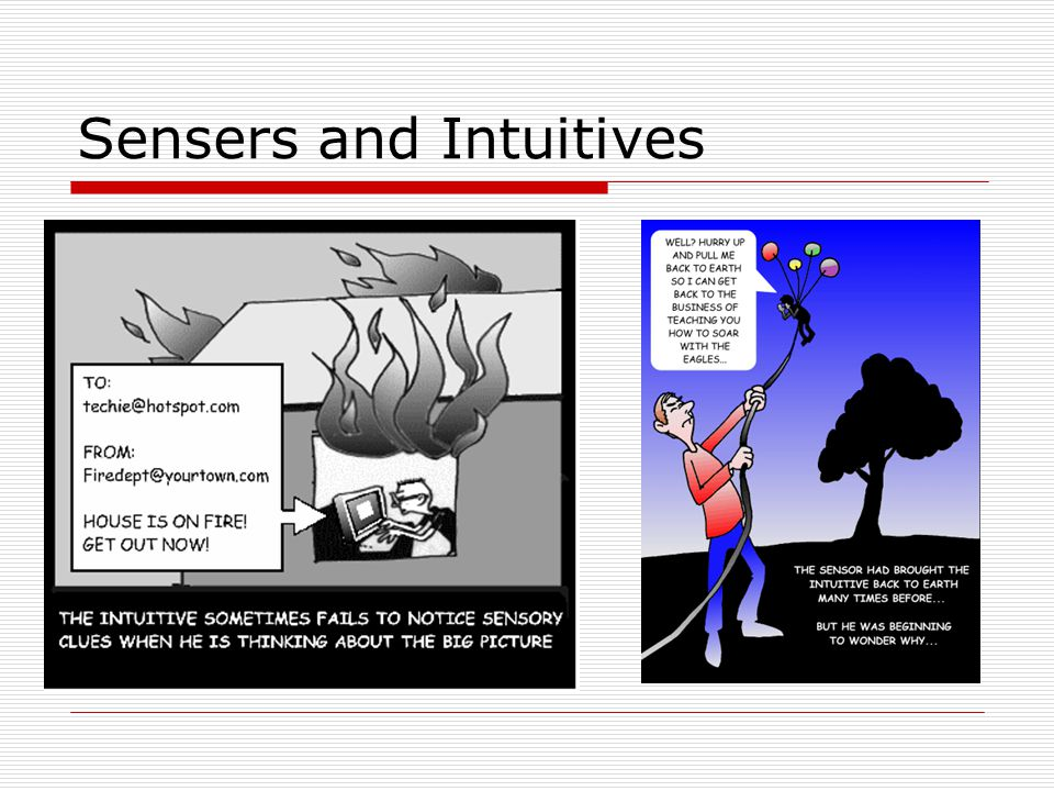 Sensers and Intuitives