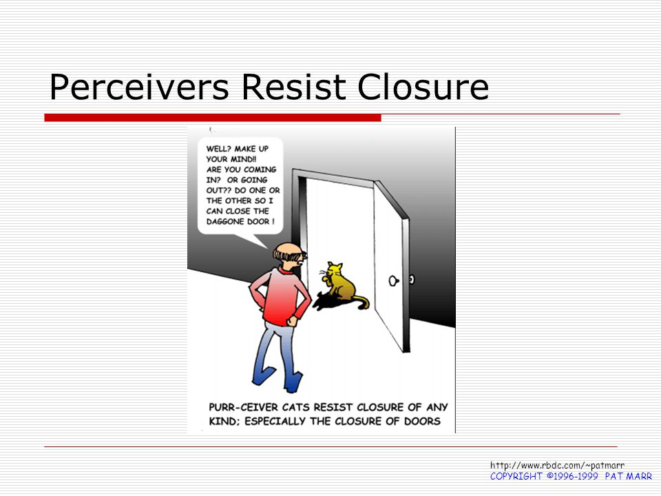 Perceivers Resist Closure