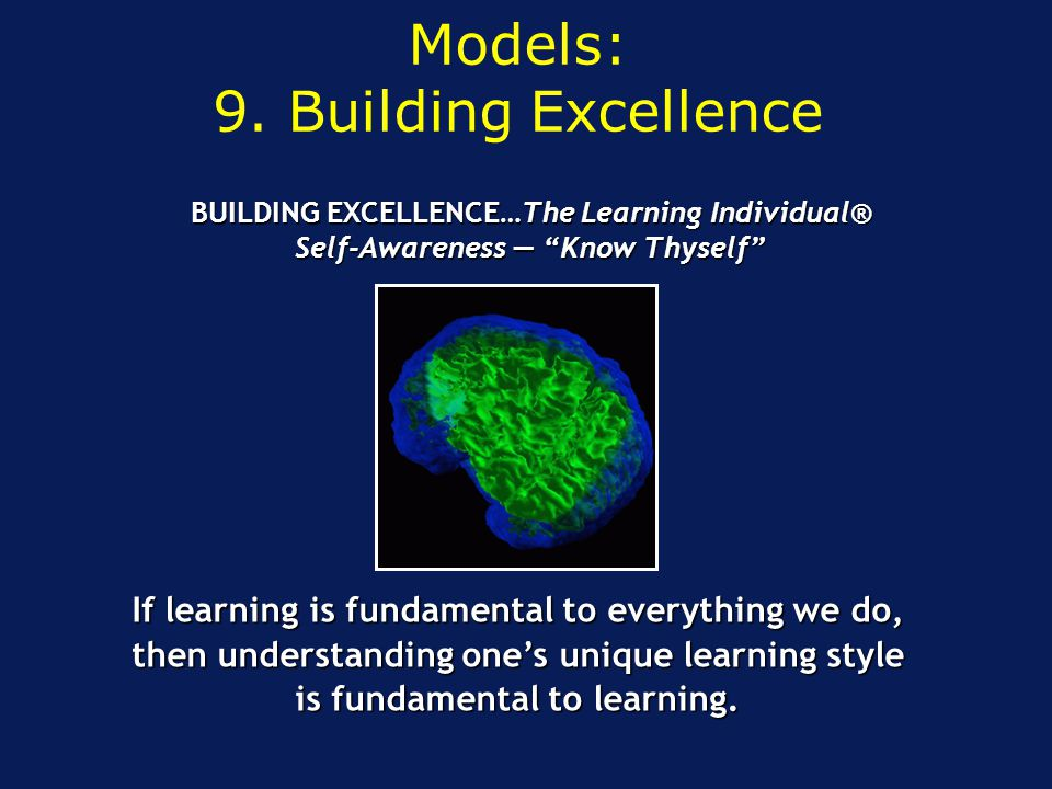 Models: 9. Building Excellence