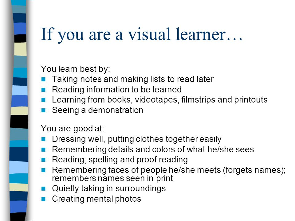 If you are a visual learner…
