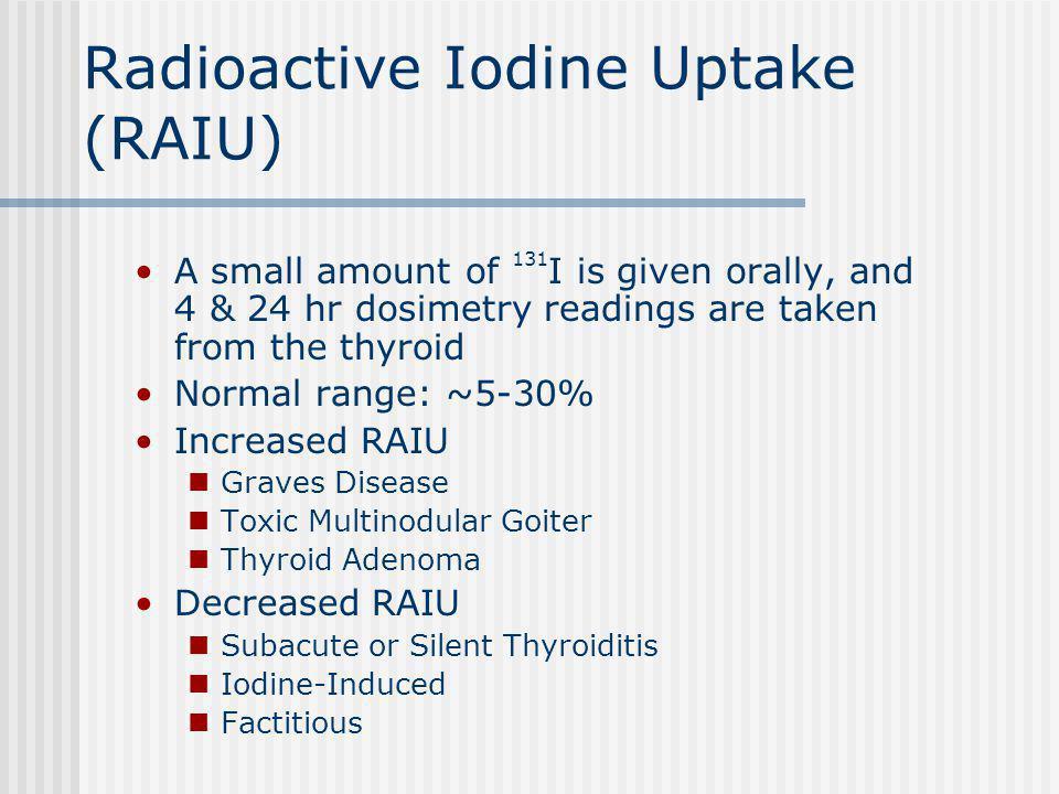 Radioactive Iodine Uptake (RAIU)