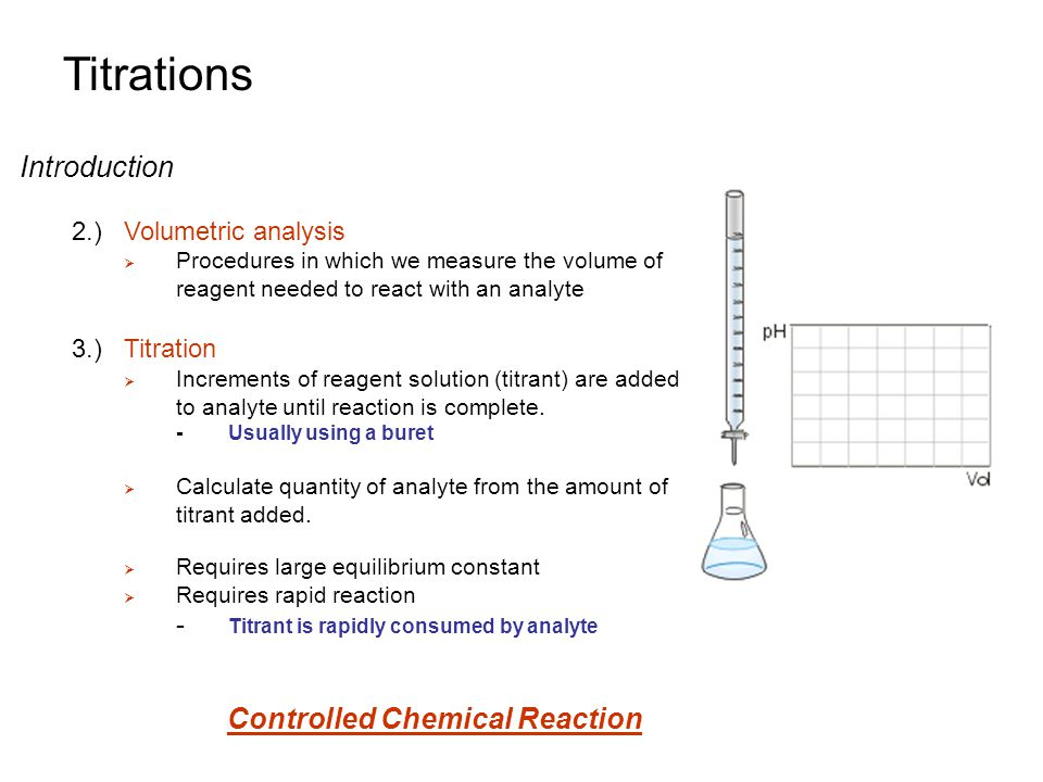 titration volumetric analysis technique This video takes you through the proper technique for setting up and performing a titration this is the first video in a two part series on titration watch.