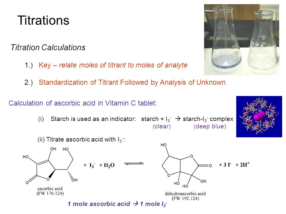 Titrations Titration Calculations
