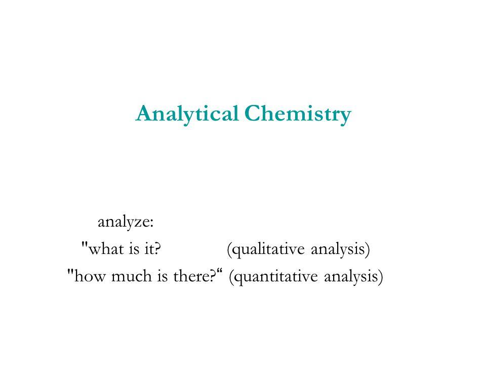 Analytical Chemistry analyze: what is it (qualitative analysis)
