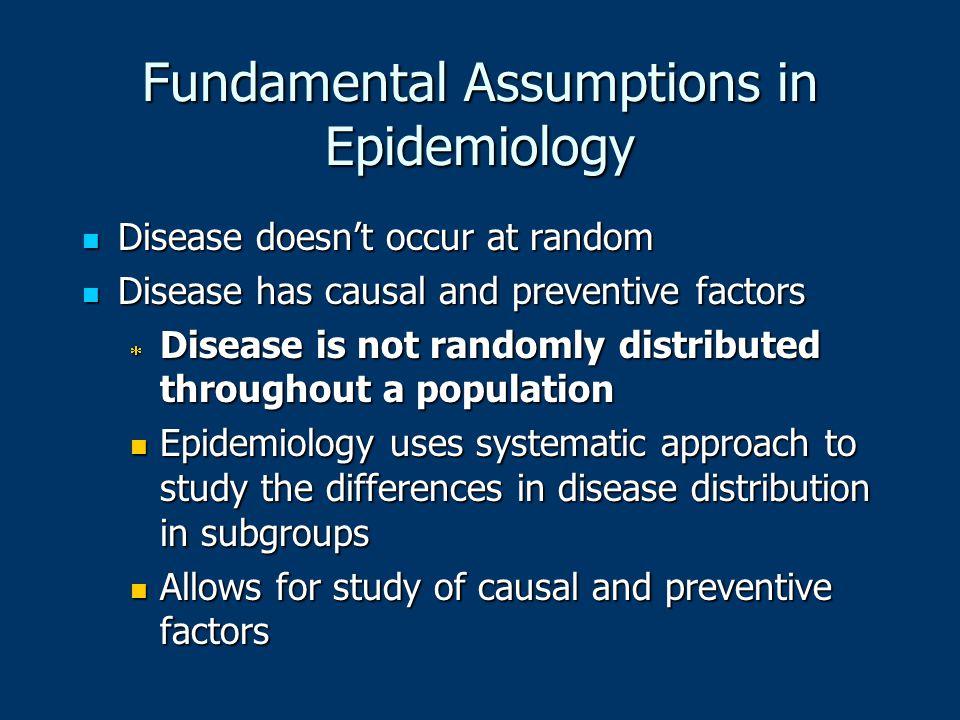 Fundamental Assumptions in Epidemiology