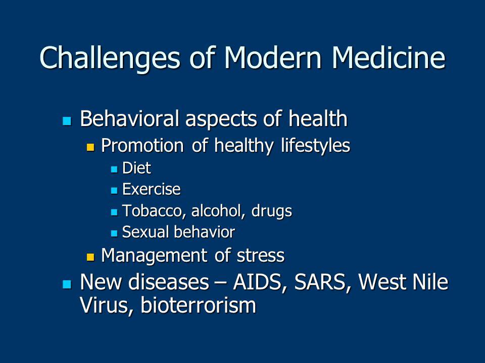 Challenges of Modern Medicine