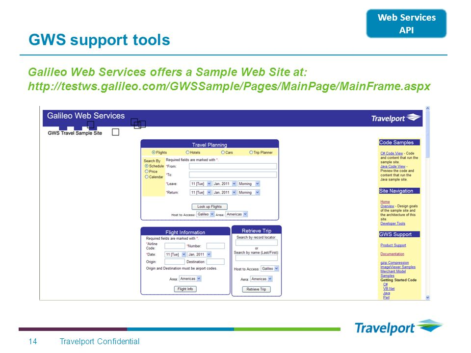 GWS support tools Web Services API.