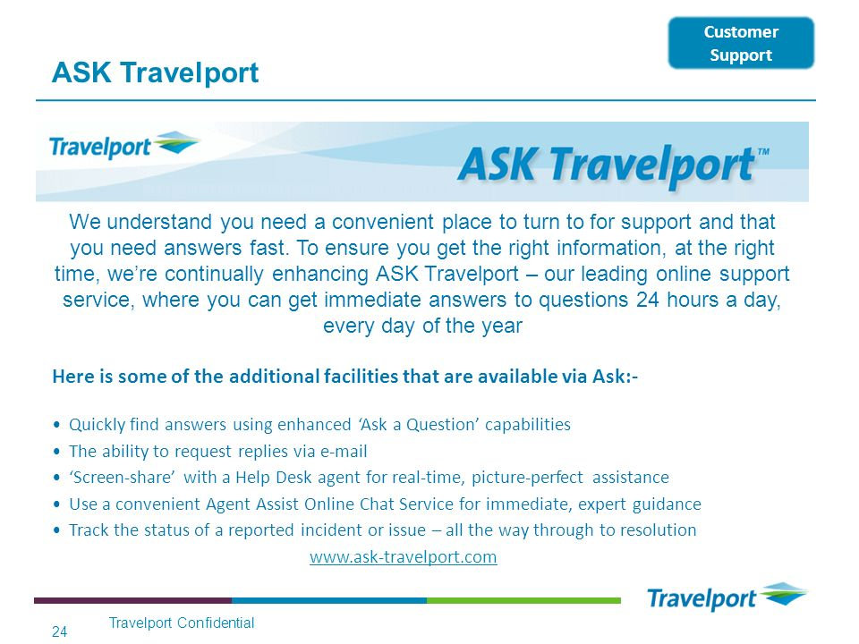 ASK Travelport Customer Support.