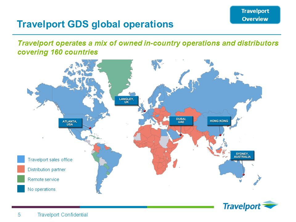 Travelport GDS global operations