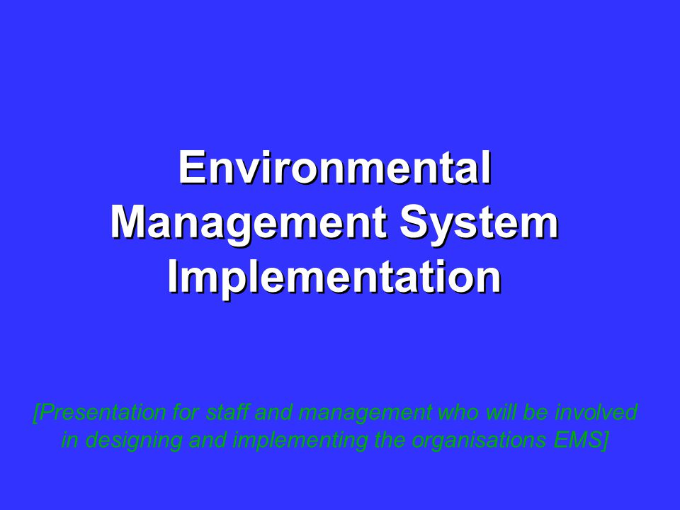 Environmental Software