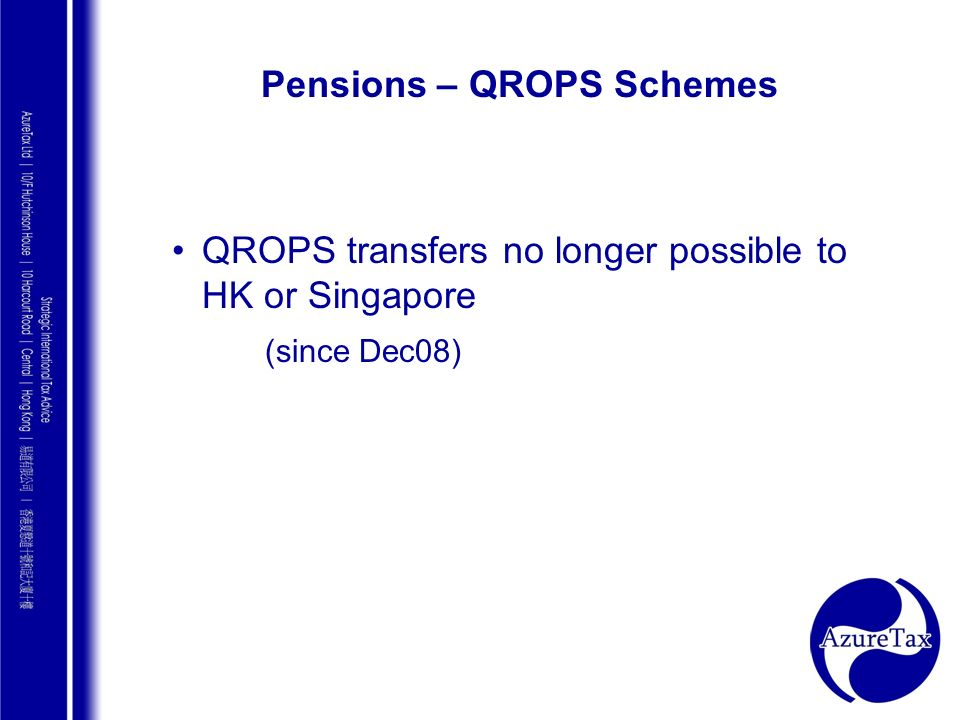 Pensions – QROPS Schemes