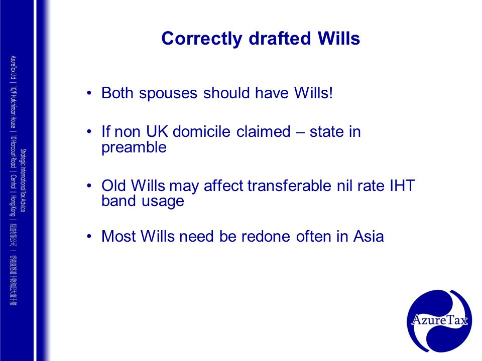 Correctly drafted Wills