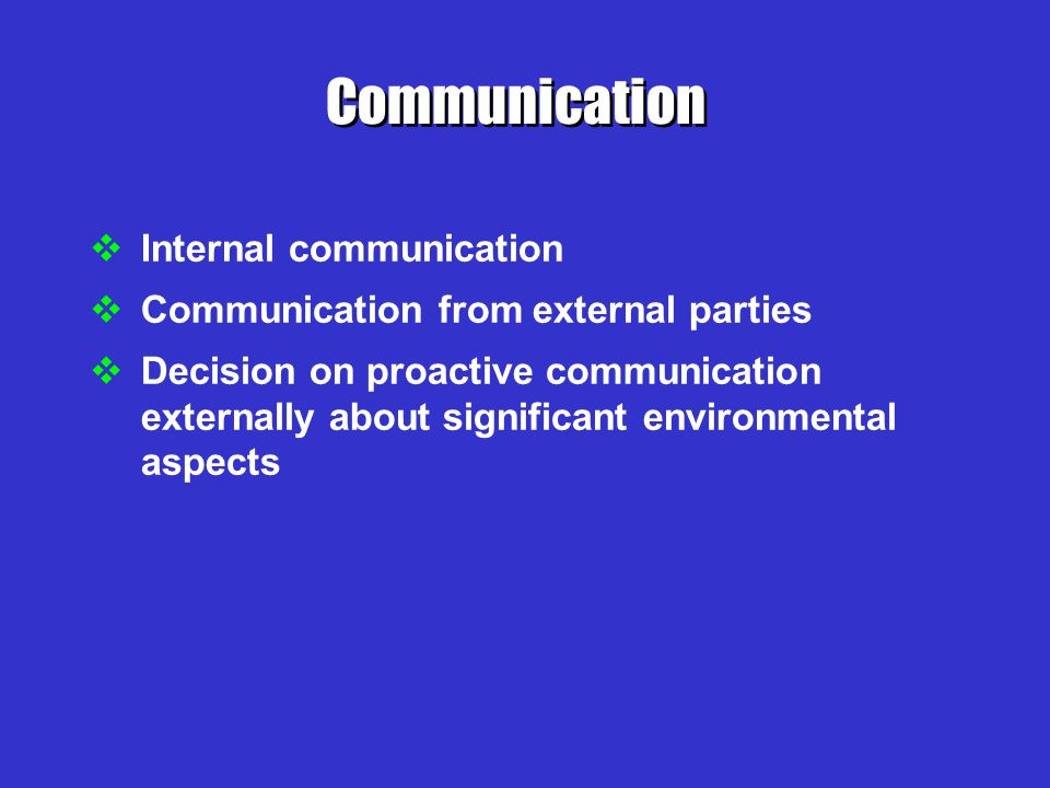 Communication Internal communication